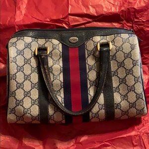 Handbags - Authentic vintage Gucci top handle bag